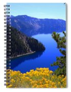 Cleetwood Cove At Crater Lake Spiral Notebook