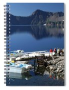 Cleetwood Cove Tour Boat Visitors, Crater Lake National Park, Oregon Spiral Notebook