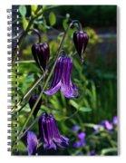 Clematis Flower Blossoms Spiral Notebook