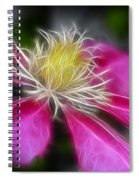 Clematis In Pink Spiral Notebook