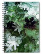 Clematis On The Vine Spiral Notebook
