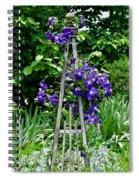 Clematis Vine Spiral Notebook