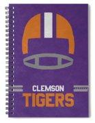 Clemson Tigers Vintage Football Art Spiral Notebook