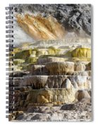 Cleopatra Terrace In Yellowstone National Park Spiral Notebook