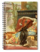 Cleopatra Testing Poisons On Those Condemned To Death Spiral Notebook