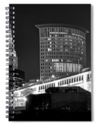 Cleveland Black And White Panoramic Spiral Notebook