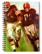 Cleveland Browns 1965 Cb Helmet Poster Spiral Notebook