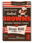 Cleveland Browns Vintage Program 5 Spiral Notebook