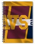 Cleveland Cavaliers Flag2 Spiral Notebook