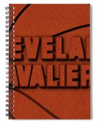 Cleveland Cavaliers Leather Art Spiral Notebook