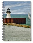 Cleveland Harbor Small Lighthouse Spiral Notebook