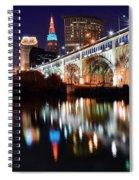 Cleveland Ohio Skyline Spiral Notebook