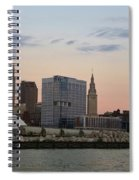 Cleveland Skyline And Port On The Cuyahoga River Spiral Notebook