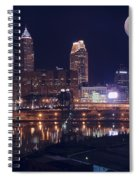 Cleveland With Full Moon Spiral Notebook