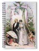 Clevelands Wedding, 1886 Spiral Notebook