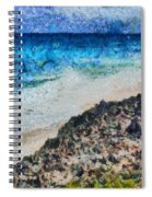 Cliff And Water Spiral Notebook