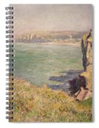 Cliff At Varengeville Spiral Notebook