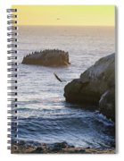 Cliff Jumping To Surf Spiral Notebook