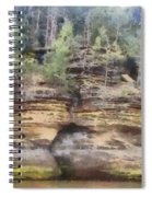 Cliffs At The Dells Spiral Notebook