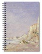 Cliffs Near Dieppe Spiral Notebook