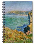 Cliffs Near Pourville Spiral Notebook