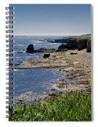 Cliffs Near Souter Lighthouse. Spiral Notebook