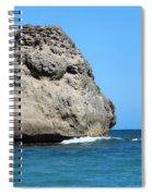 Cliffs On The Beach Dominican Republic  Spiral Notebook