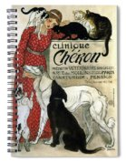 Clinique Cheron - Vintage Clinic Advertising Poster Spiral Notebook