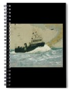 Clipper Endeavor Alaska Boat Nautical Chart Map Spiral Notebook