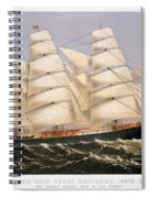 Clipper Ship, 1875 Spiral Notebook