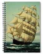 Clipper Ships Racing To Port Spiral Notebook