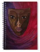 Cloaked Or Mask Spiral Notebook