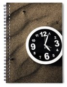 Clocks And Ripples Spiral Notebook