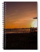 Close Of The Day At Newport Beach Spiral Notebook