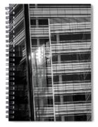 Close Up Of Black And White Glass Building Spiral Notebook