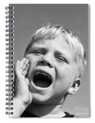 Close-up Of Boy Shouting, C.1950s Spiral Notebook