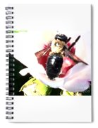Close Up Of Bumble Bee On Flower Spiral Notebook