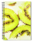 Close Up Of Kiwi Slices Spiral Notebook