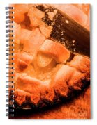 Close Up Of Knife Cutting Into Pie Spiral Notebook
