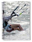 Close-up Of Male Kite Surfer In Cap Spiral Notebook