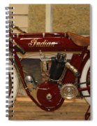 close up of red Indian motorcycle   # Spiral Notebook