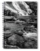 Close Up Of Reedy Falls In South Carolina B W Spiral Notebook