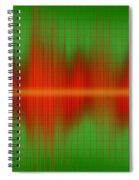 Close-up Of Sound Waves Spiral Notebook