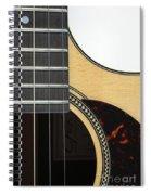 Close-up Of Steel-string Guitar Spiral Notebook
