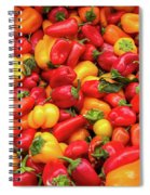Close Up View Of Small Bell Peppers Of Various Colors Spiral Notebook