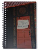 Closed For Earthquake Spiral Notebook