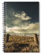 Closed Gates And Open Paddocks Spiral Notebook