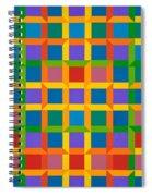 Closed Quadrilateral Lattice Spiral Notebook