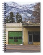 Closed Service Station Painterly Impressions Spiral Notebook