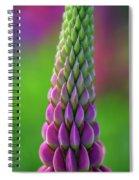 Closeup Of A Pink Lupine Spiral Notebook